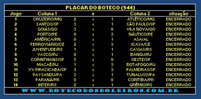 PLACAR 544