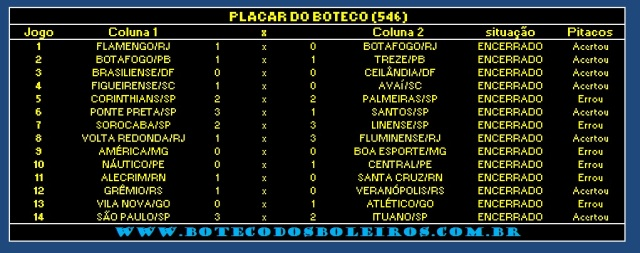 PLACAR 546