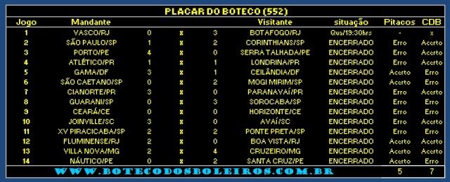 PLACAR 552
