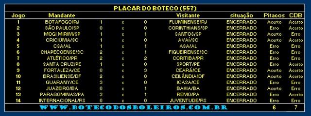 PLACAR 557
