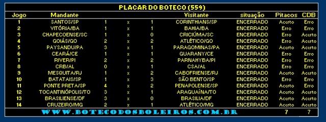 PLACAR 559