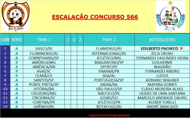 ESCALAÇÃO 566