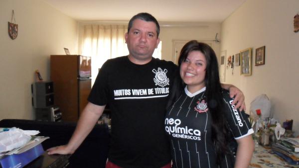 O novo moderador Guilherme com sua filha.