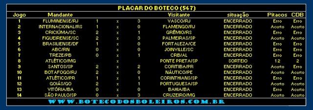PLACAR 567
