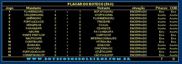 PLACAR 568