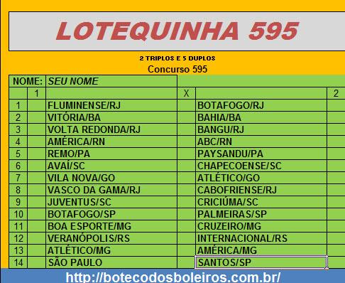 Lotequinha 595