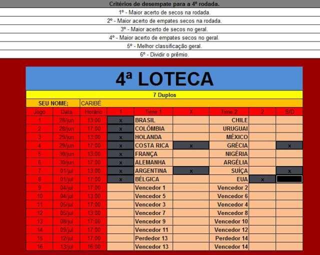 Caribé Loteca 4