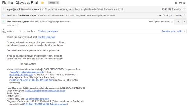 Erro de e-mail 4