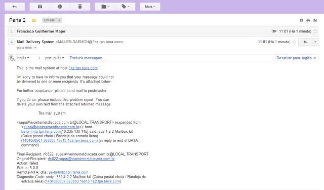Erro de Email 2