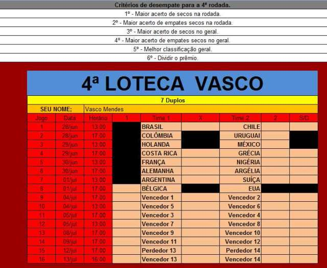 Vasco Mendes Loteca 4
