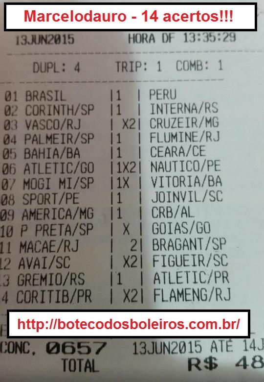 Marcelodauro - 14 acertos