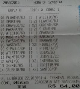 Bolão 667 - 668 André